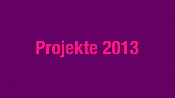 Vergabe: 2. Förderrunde 2013