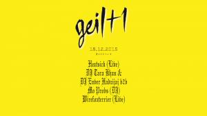 Blockbühne geil+1 Veranstaltungsflyer