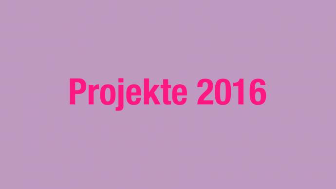 Vergabe: 2. Förderrunde 2016