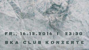 BKA Club Konzerte Flyerausschnitt