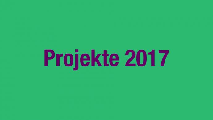 Vergabe: 2. Förderrunde 2017