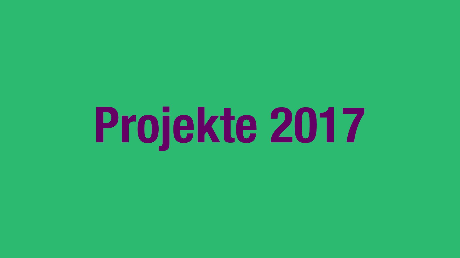 Projekte 2017