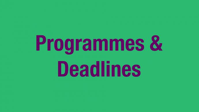Funding Programmes & Application Deadlines 2020