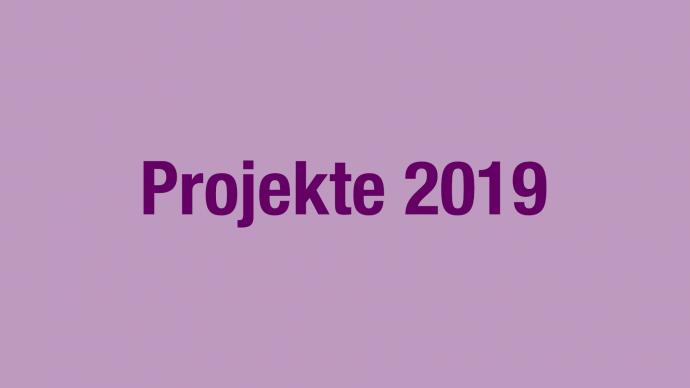 Vergabe: 2. Förderrunde 2019