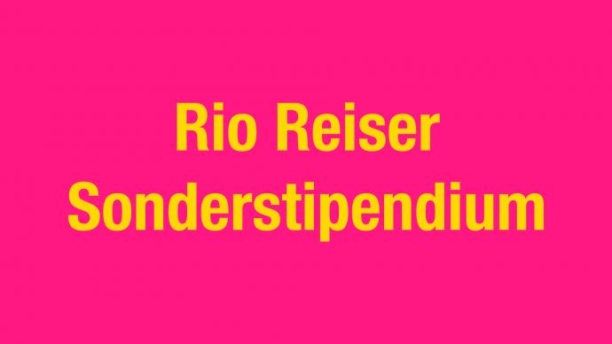 Ankündigung: Rio Reiser Sonderstipendium