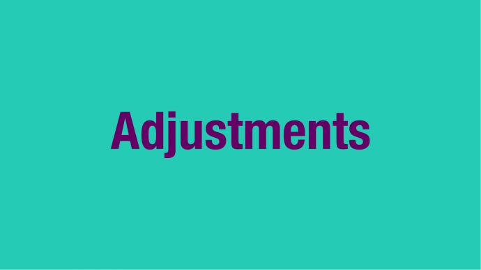 Support Tour Funding: Adjustments