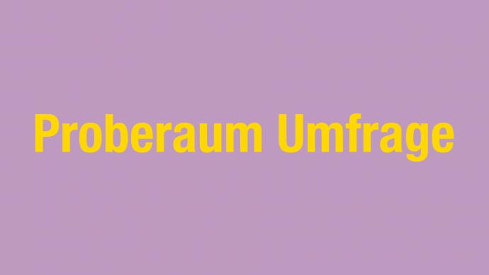 Berliner Proberaum Umfrage: Ergebnisse & Auswertung