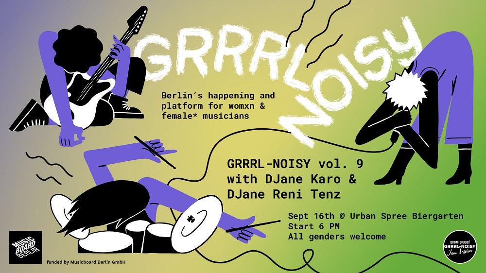 GRRRL Noisy Veranstaltungsbanner
